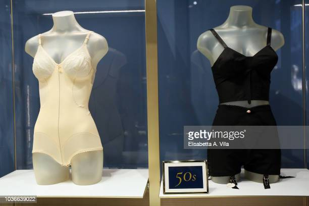 Creations are shown at 'La Perla Retrospective' event during Milan Fashion Week Spring/Summer 2019 on September 20 2018 in Milan Italy