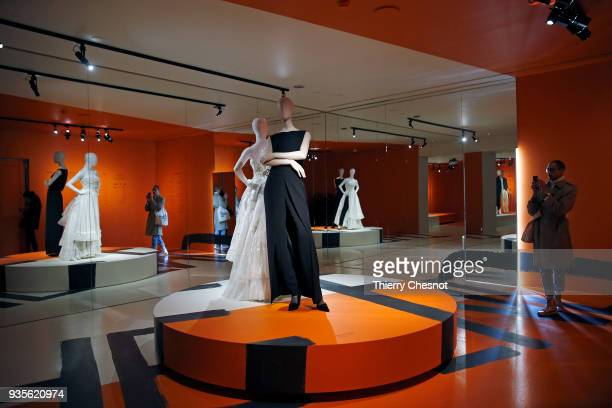 """Creations by Belgian designer Martin Margiela are displayed during the exhibition """"Margiela, Les Annees Hermes"""" at """"Musee Des Arts Decoratifs"""" on..."""