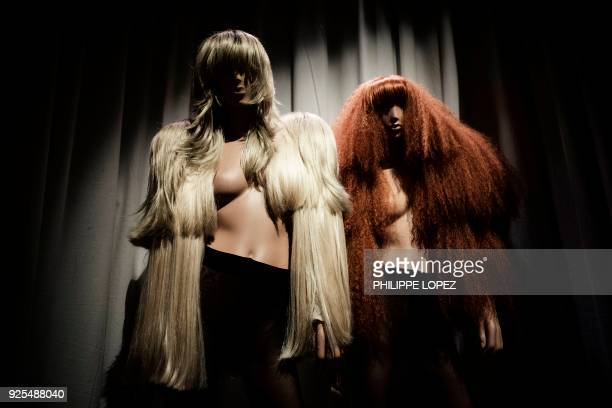 Creations by Belgian fashion designer Martin Margiela are displayed as part of the exhibition Margiela / Galliera 1989 2009 at the fashion museum...