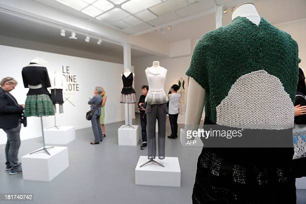 Creations by French Alice Lemoine are on display during the 2014 Spring/Summer readytowear collection fashion presentation on September 24 2013 in...
