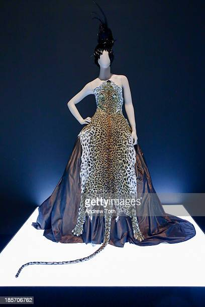 Creations by French fashion designer Jean Paul Gaultier are on display during a press preview for The Fashion World of Jean Paul Gaultier From the...