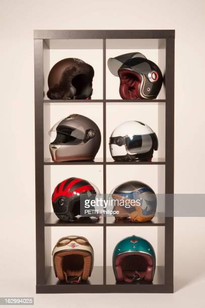 Creations Of OraIto Casques de moto design créés par ORAITO avec de gauche à droite et de haut en bas Le Borsalino Lapin pour femme avec fourrure...