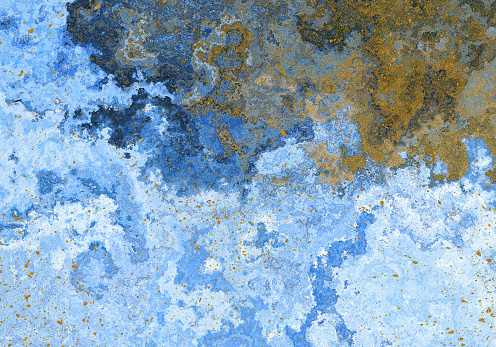 Creative Abstract blue background with gold glitter - gettyimageskorea