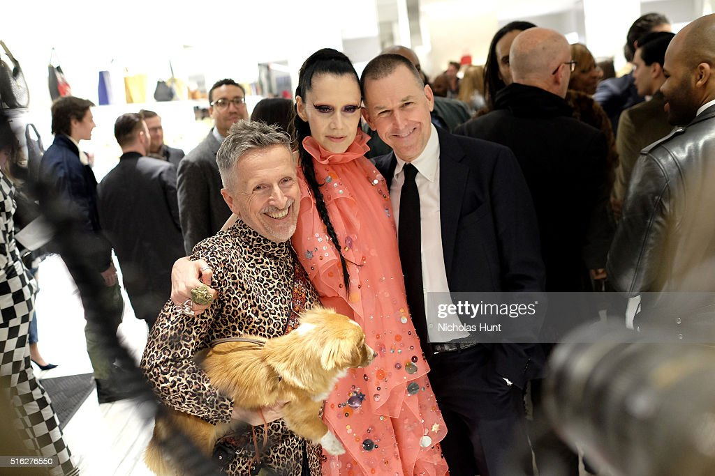 Creative Ambassador-at-Large of Barneys New York Simon Doonan, event producer Susanne Bartsch and Barneys CEO Mark Lee attend as Barneys New York celebrates its new downtown flagship in New York City on March 17, 2016 in New York City.