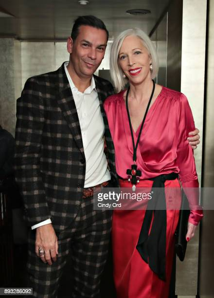 Creative and Fashion Director Modern Luxury James Aguiar and SVP Fashion and Director Women's Fashion Bergdorf Goodman Linda Fargo attend as...
