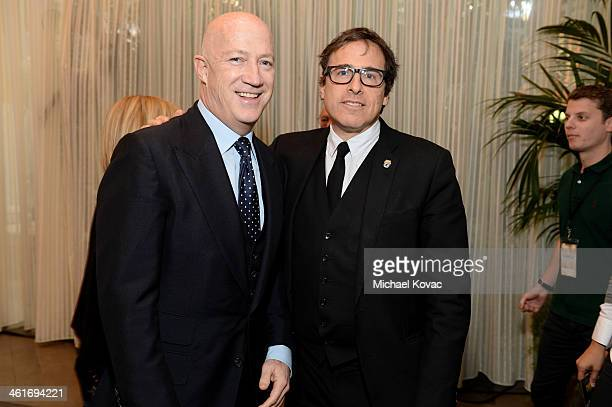 Creative Artists Agency CoChairman Bryan Lourd and director David O Russell attend the 14th annual AFI Awards Luncheon at the Four Seasons Hotel...