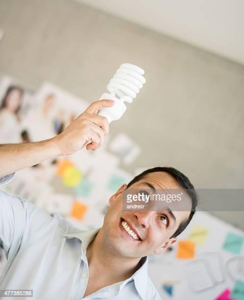 Creative business man having an idea