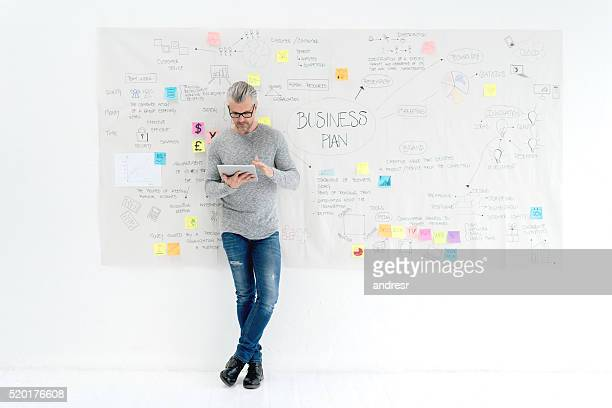 Creative business man making a business plan