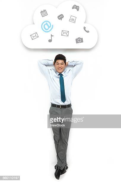 creative business man - legs crossed at ankle stock pictures, royalty-free photos & images