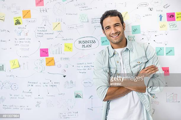 Creative business man with a business plan