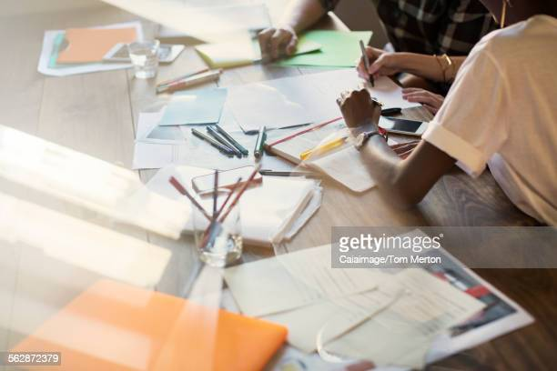 Creative business people brainstorming in meeting