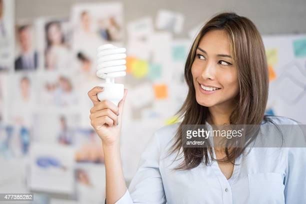 Creative business woman having an idea