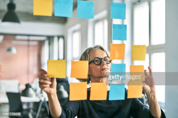 creative businesswoman planning business strategy - business finance and industry stock pictures, royalty-free photos & images