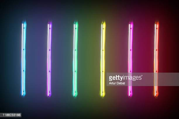creative colorful fluorescent display with rainbow colors. -  lgbtqi ストックフォトと画像
