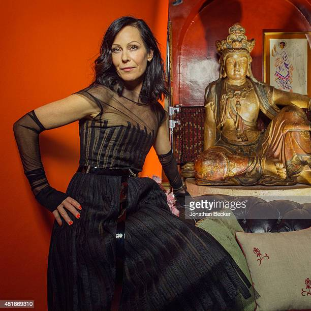 Creative consultant Amanda Harlech is photographed at the Charles Finch and Chanel's PreBAFTA on February 7 2015 in London England