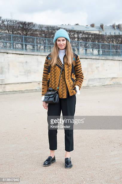 Creative Consultant Stephanie Gundelach wears a Massimo Dutti trousers Missoni jacket Lovechild hat Kenzo bag and Dr Martens shoes on day 4 during...