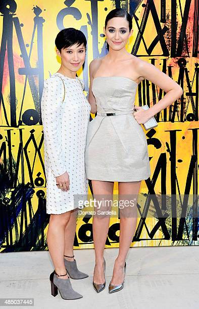 Creative Director and designer of J Choo Limited Sandra Choi and actress Emmy Rossum attend Launch Of CHOO08 hosted by Jimmy Choo's Sandra Choi on...