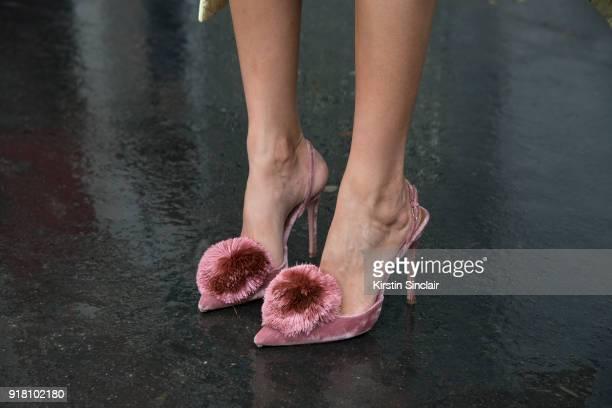 Creative director and fashion editor Giovanna Battaglia Engelbert wears Altuzarra shoes day 6 of Paris Womens Fashion Week Spring/Summer 2018 on...