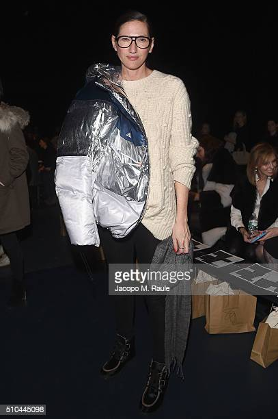 Creative Director and President at JCrew Jenna Lyons attends the Zero Maria Cornejo Fall 2016 fashion show during New York Fashion Week at Pier 59 on...