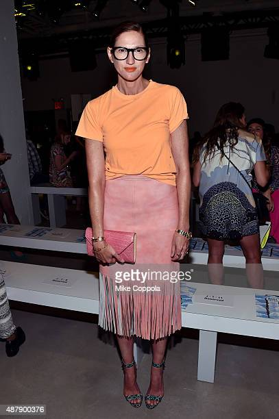 Creative Director and President of JCrew Jenna Lyons attends Mara Hoffman Spring 2016 during New York Fashion Week The Shows at The Gallery Skylight...