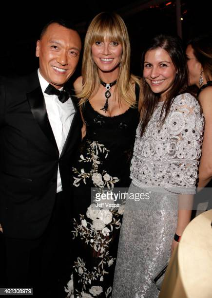 Creative Director at ELLE Joe Zee and tv personality Heidi Klum attend The Weinstein Company Netflix's 2014 Golden Globes After Party presented by...