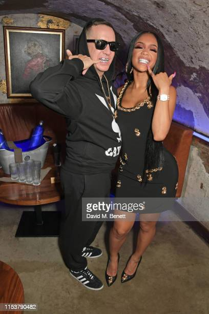 Creative Director at Moschino Jeremy Scott and Saweetie attend as CIROC x Moschino celebrate Pride In London with the hottest party of the summer...