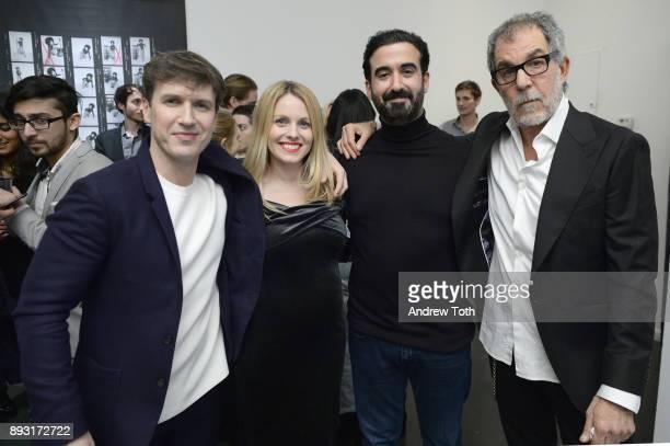 Creative Director at NJG Studio Nick Groarke Manager The Marse Group Eliona Cela CEO of Vero Ayman Hariri and photographer Robert Whitman attend...