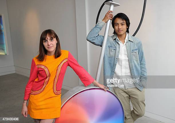 Creative Director at Wallplay Alessandra De Benedetti and artist Evan Yee attend Gallery 151 presents StartUp by Evan Yee on May 14 2015 in New York...