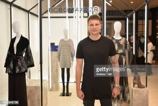 Creative Director Bernd Kroeber attends the celebration of the BCBGMAXAZRIA SoHo store opening with Kate Young Bernd Kroeber and InStyle on September...