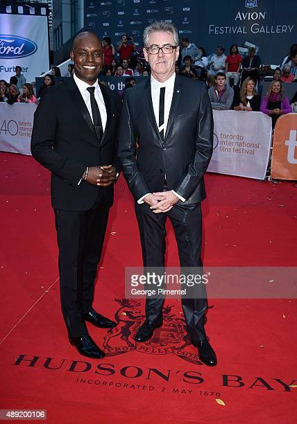 Creative Director Cameron Bailey and TIFF CEO Piers Handling attend the Mr Right premiere during the Toronto International Film Festival at Roy...