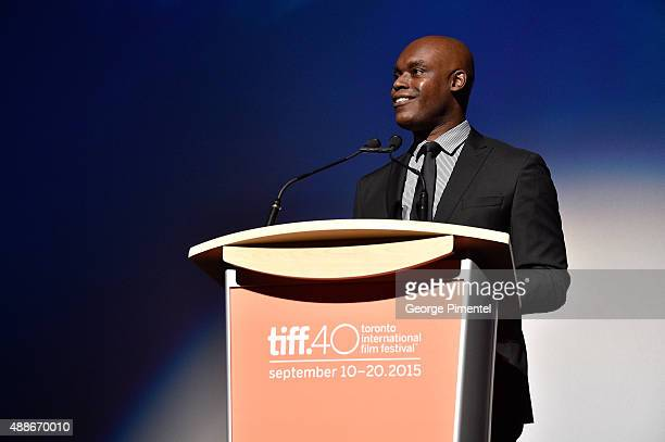 Creative Director Cameron Bailey speaks onstage at the Forsaken premiere during the 2015 Toronto International Film Festival at Roy Thomson Hall on...