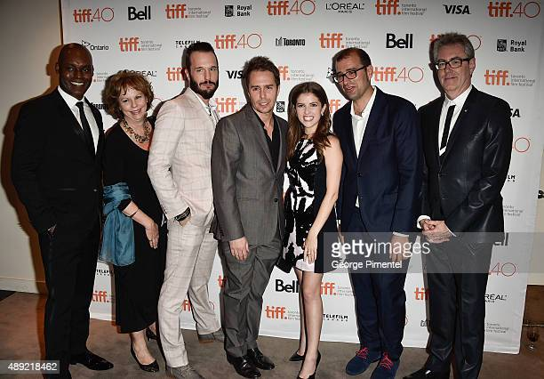 Creative Director Cameron Bailey, TIFF COO Michelle Maheux, Michael Eklund, Sam Rockwell, Anna Kendrick, Paco Cabezas and TIFF CEO Piers Handling...