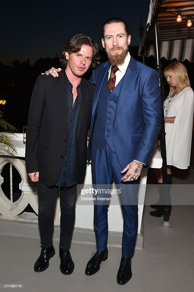 Creative director Christopher Kane and buying director of mytheresa.com Justin O'Shea attend Christopher Kane x mytheresa.com dinner at Chateau Marmont on April 28, 2014 in Los Angeles, CA