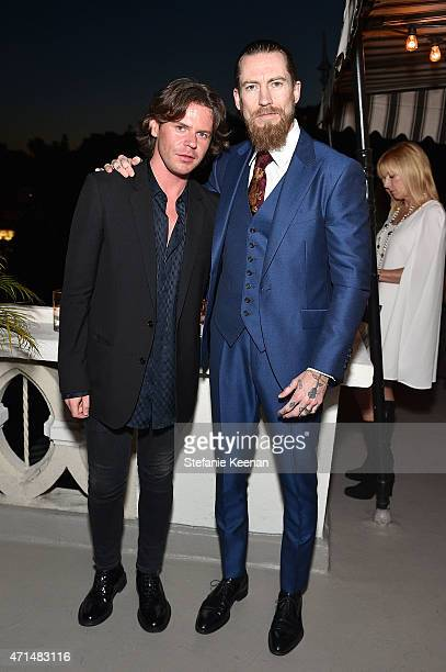 Creative director Christopher Kane and buying director of mytheresacom Justin O'Shea attend Christopher Kane x mytheresacom dinner at Chateau Marmont...