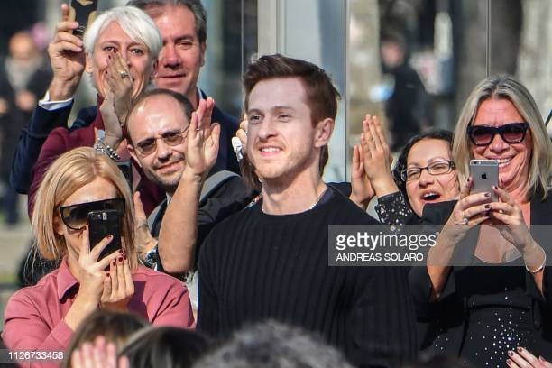 Creative director Daniel Lee acknowledges applause following the Bottega Veneta women's Fall/Winter 2019/2020 collection fashion show on February 22...