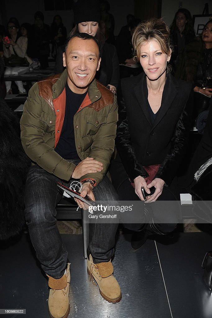 Creative Director, Elle magazine, Joe Zee (L) and Editor-in-Chief, Elle magazine, Robbie Myers attend Jason Wu during Fall 2013 Mercedes-Benz Fashion Week on February 8, 2013 in New York City.