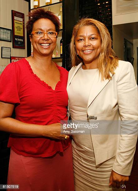 Creative director for EBONY magazine Harriette Cole and president and CEO of PrimeTime Omnimedia L. Marilyn Crawford attend a celebration of Ruby...