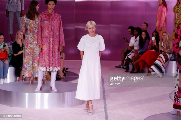 Creative Director for Kate Spade, Nicola Glass, poses for Kate Spade New York during New York Fashion Week at New York Public Library on September 7,...