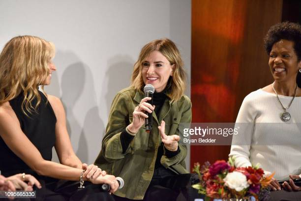 Creative Director Founder of Milly Michelle Smith DryBar Founder Alli Webb and Wells Fargo SVP Heather Philip participate in The Talks How We Changed...