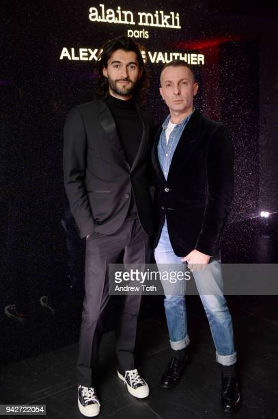 Creative Director Giampiero Tagliaferri and Designer Alexandre Vauthier attend the Alain Mikli x Alexandre Vauthier Launch Party on April 5 2018 in...