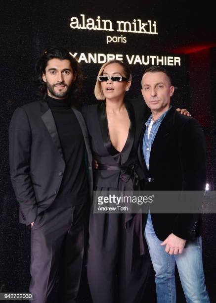 Creative Director Giampiero Tagliaferri Rita Ora and Designer Alexandre Vauthier attend the Alain Mikli x Alexandre Vauthier Launch Party on April 5...