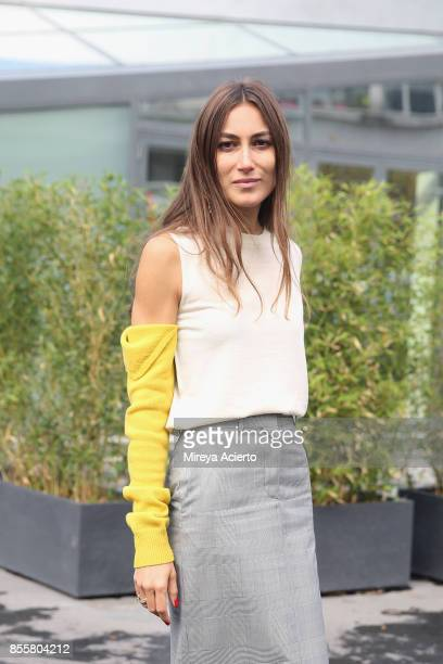 Creative director Giorgia Tordini attends the Haider Ackermann show as part of the Paris Fashion Week Womenswear Spring/Summer 2018 on September 30...