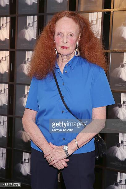 Creative director Grace Coddington attends the Patrick Demarchelier Exhibit Fashion Week kick off party at Christie's Auction House on September 9...