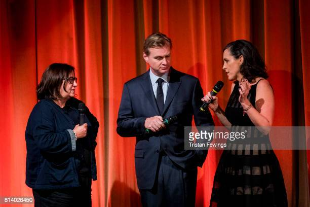 Creative Director Heather Stewart Director Christopher Nolan and Emma Thomas attend a QA promoting his new film 'Dunkirk' at BFI Southbank on July 13...