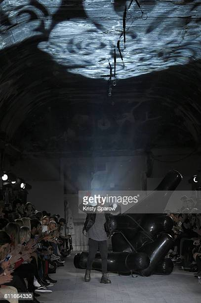 Creative Director Henry Levy attends the Enfants Riches Deprimes show as part of Paris Fashion Week Womenswear Spring/Summer 2017 on September 30...