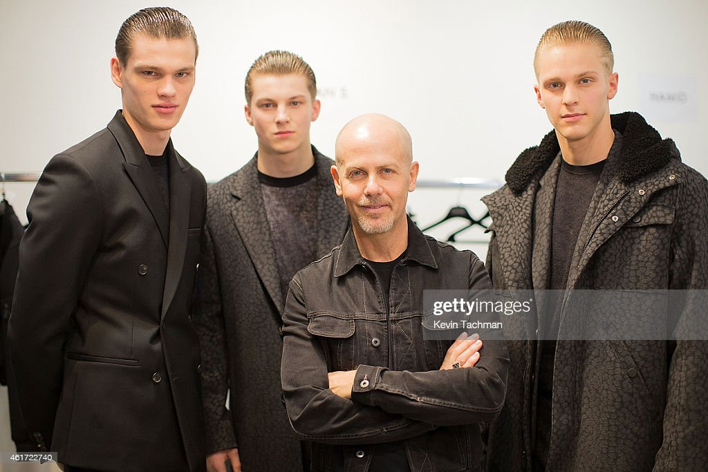 CALVIN KLEIN COLLECTION - Backstage - Milan Menswear Fashion Week Fall Winter 2015/2016 : News Photo