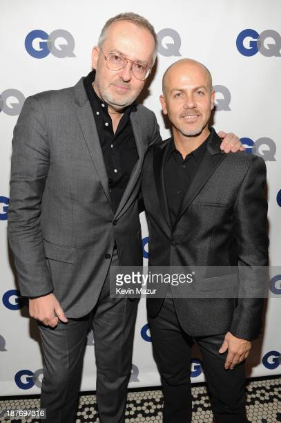 GQ creative director Jim Moore and designer Italo Zucchelli attend the GQ Men of the Year dinner on November 11 2013 in New York City