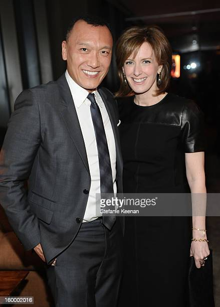 Creative Director Joe Zee and CoChair of Disney Media and President of DisneyABC Anne Sweeney attend the ELLE's Women in Television Celebration at...