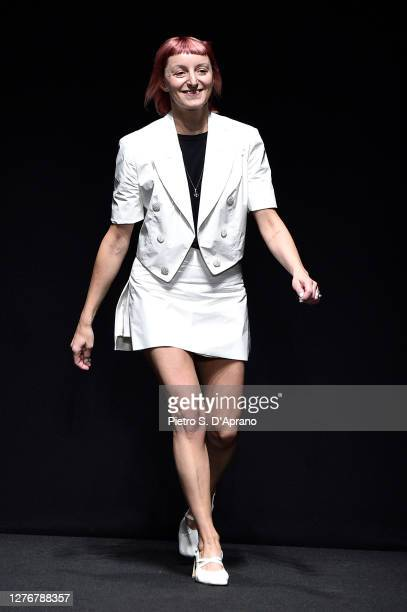 Creative Director Marianna Rosati walks the runway at the Drome fashion show during the Milan Women's Fashion Week on September 26 2020 in Milan Italy