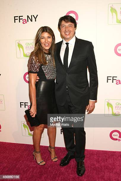 Creative Director Marie Claire Nina Garcia and Designer of the Year Gianvito Rossi attends the 2014 FFANY Shoes On Sale Gala at The Waldorf Astoria...